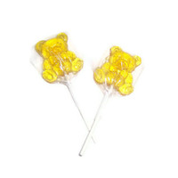 8 Teddy Bear Lollipops - Sweet Treats - Birthday Party Favors- Baby Shower