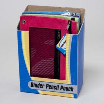 Pencil Pouch 10x7 - 3 Hole Binder Ready - CASE OF 72