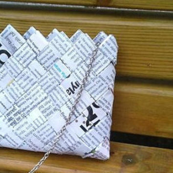 magazine paper wrapper HANDBAG by colorfulconcept on Etsy