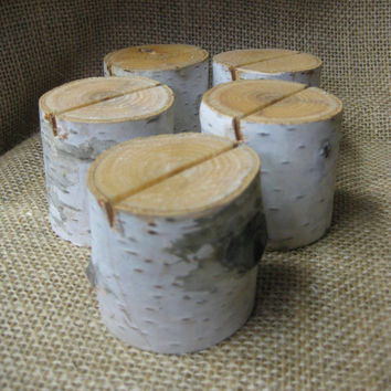 12  Birch Bark Place Card Holders Natural Weddings  Garden Parties Table Number Holders