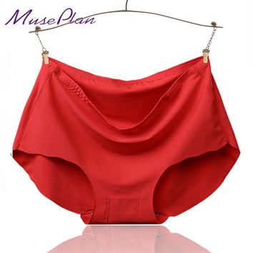 summer style ice silk sexy briefs nylon underwear women seamless panties underwear women  11 color