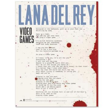 Lana Del Rey Video Games Lithograph