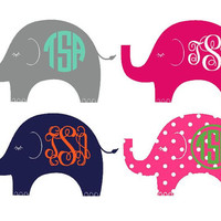 Elephant Monogrammed Decal