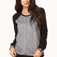 Quilted Raglan Pullover