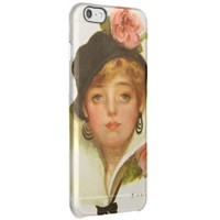 Woman Flower Classy Vintage Clear iPhone 6 Plus Case