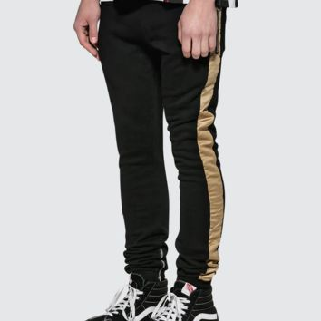 Dusted Gold Stripe Sweatpant