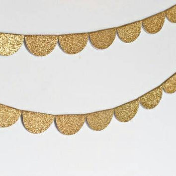 Gold scalloped garland, scalloped garland, gold half circle garland, gold garland, half circle garland, circle garland, wedding decoration
