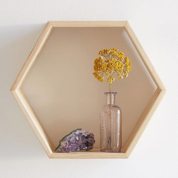 Honeycomb Wood Shelf | Urban Outfitters