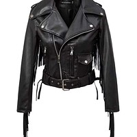 Women Autumn Motorcycle Faux Leather Jackets Macchar Cosplay Catalogue