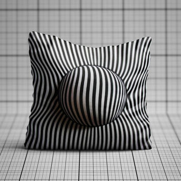 Optical illusion Ball pillow cushion cover