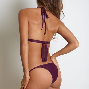 Kai Lani Swimwear Minny Bottom in Merlot- Final Sale