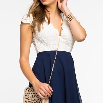 Lacey Crochet Flare Dress