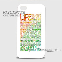 Life Quotes Rainbow Sparkel 3D Image Cases for iPhone 4/4S, iPhone 5/5S, iPhone 5C, iPhone 6, iPhone 6 Plus, iPod 4, iPod 5, Samsung Galaxy (S3, S4, S5, S6) by FixCenters