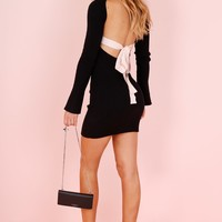 ASILIO | The Ivy League Dress  - Black/ Eggshell