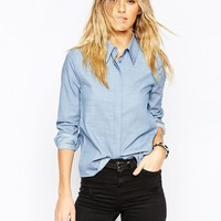 ASOS 70s Collar Cambray Shirt
