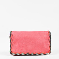 "Stella McCartney Pink Vegan Leather ""Falabella"" Chain Link Bag,Classic handbags and purse gift"