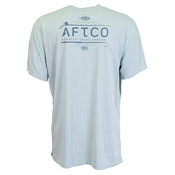 Fishtale Performance Tee Shirt in Moonstone by AFTCO