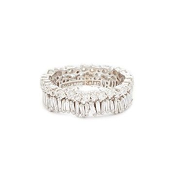 Fireworks 18k Gold Diamond Double Band Ring