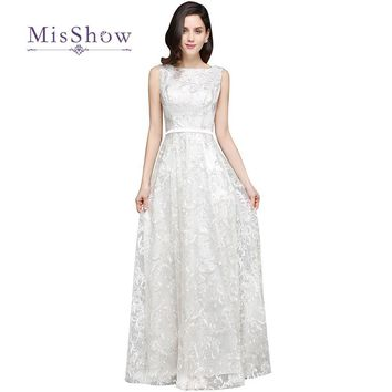 MisShow New High Quality Elegant Lace Bohemian Wedding Dresses 2017 Beach Boho Bridal Gown Robe De Mariage Vestido De Noiva