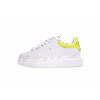 alexander mcqueen sole white yellow sneakers
