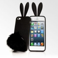 Rabito Bunny Ears iPhone 5 Cases - Black