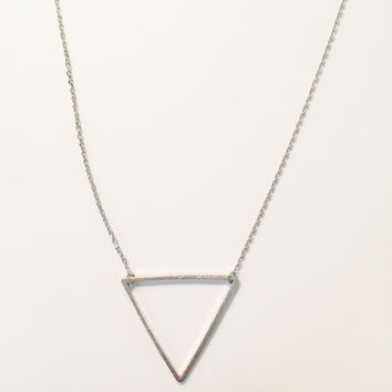 Triangle Necklace in Gold and Silver