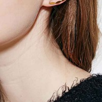18k Gold & Sterling Silver Ear Climber Earring