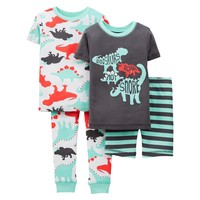Just One You™ Made by Carter's® Toddler Boys' 4-Piece Mix & Match Dino Pajama Set