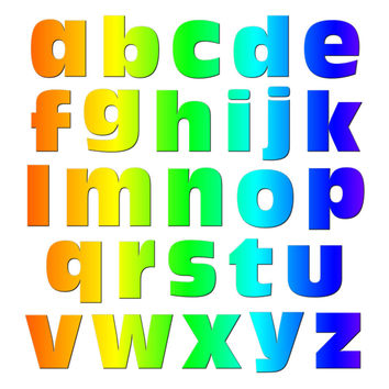 Alphabet Letters Lowercase Rainbow MAG-NEATO'S TM Refrigerator Magnet Set
