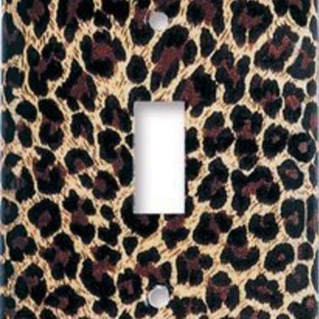 Art Plates - Leopard Print Switch Plate - Single Toggle