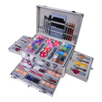 Carry All Trunk Professional Makeup Train Case – Eye shadows, Blushes, Manicure, Pedicure - MAKEUP SETS - MAKEUP