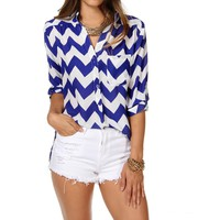 Sale-royal Chevron Top