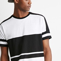 Paneled Stripe Tee