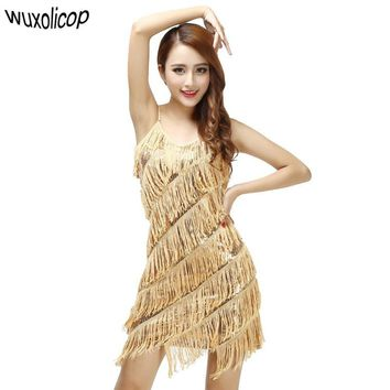 Gold Fringe Dress Vestidos Flapper Costumes
