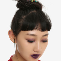Blackheart Oil Slick Crystal Hair Comb