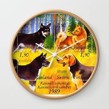 100 Years Union of Finnish Dog Breeders Wall Clock by lanjee