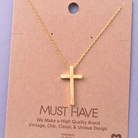Simple Cross Necklace - Three Options