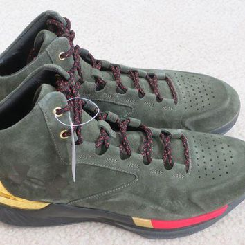 DCCK7H8 Under Armour Steph Curry SC 1 Lux Downtown Green/Metallic Gold 1296617 330 Sz 10