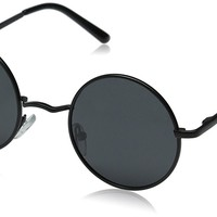 Lennon Style Vintage Round Polarized Sunglasses with Sunglasses Case 46mm Lens Width