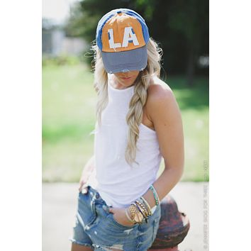 Vintage Distressed LA Baseball Cap