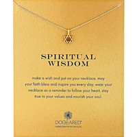 Dogeared Spiritual Wisdom Hexagram Star 18k Gold Chain Fashion Necklace