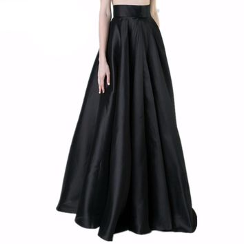 Maxi long Pleated Elegant Skirt