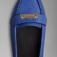 Signature Grain Leather Loafers
