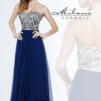Milano Formals Beaded A Line Dress E1870