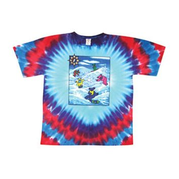 Grateful Dead Men's  Snow Bears Tie Dye T-shirt Multi