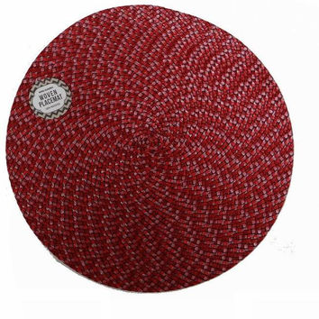 royal classics 15 inch round woven placemat Case of 24