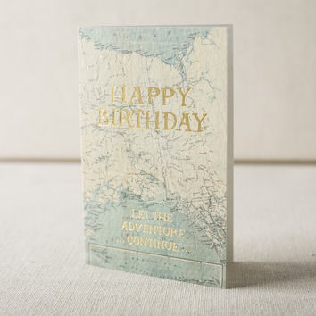 Birthday Map Card