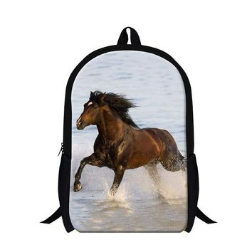 Personalized animal horse backpacks for children,teenager boys cool school bookbag,fashion lightweight back pack girls bagpack
