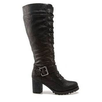 Wanted Pillar  Black Knee High Boot
