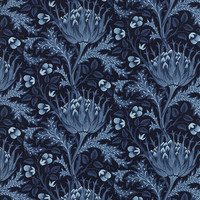Morris Apprentice by Barbara Brackman for Moda Fabrics, Deep Blue